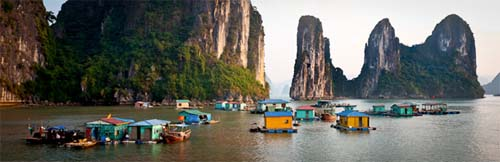 Visit floating fishing village
