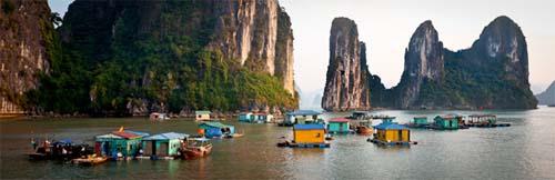 Visit floating fishing village