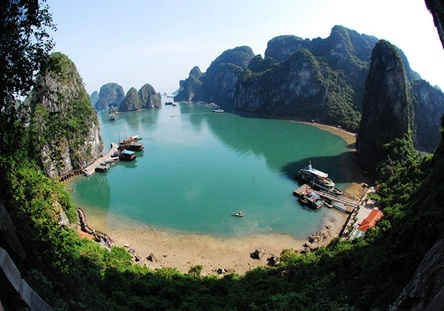 One corner of Cat Ba Island
