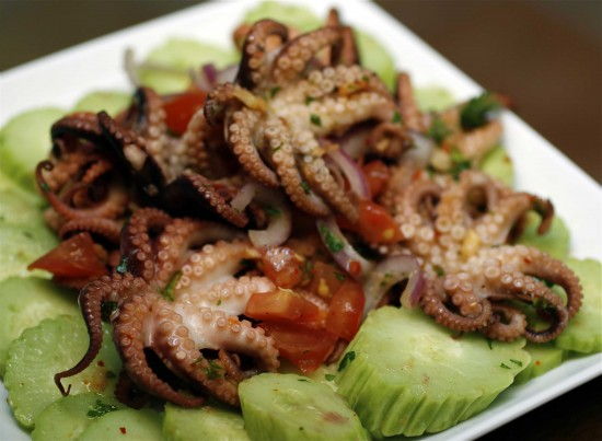 Local people often boiled mini octopus in daily meals