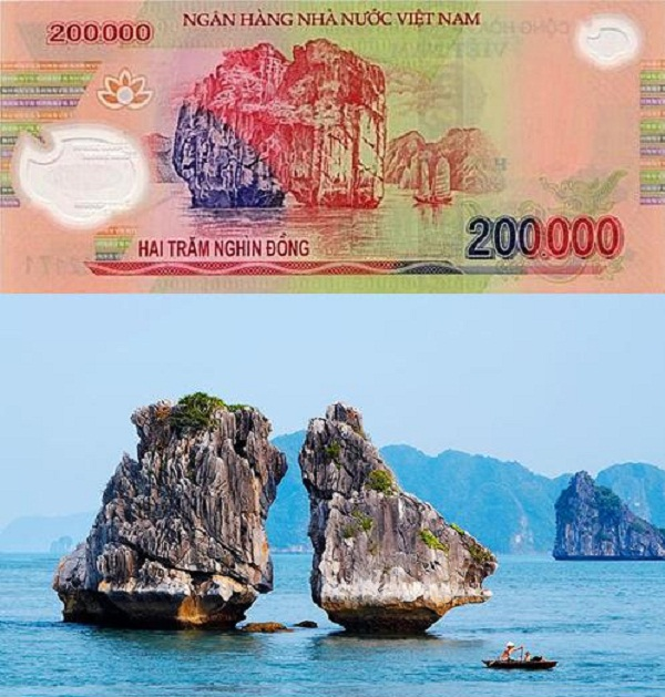This typical symbol printed on the back side of the 200,000 Vietnamese dong banknotes