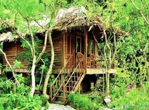 Bamboo cabin in Monkey Island Resort