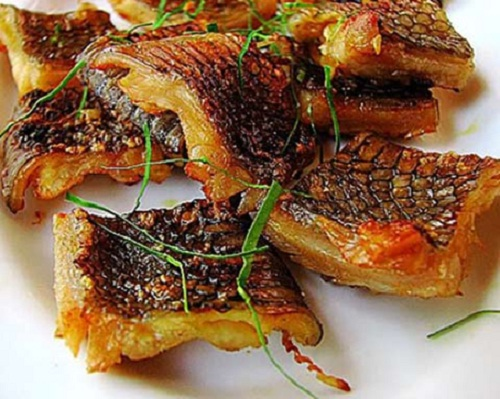 Crispy fried sea snake
