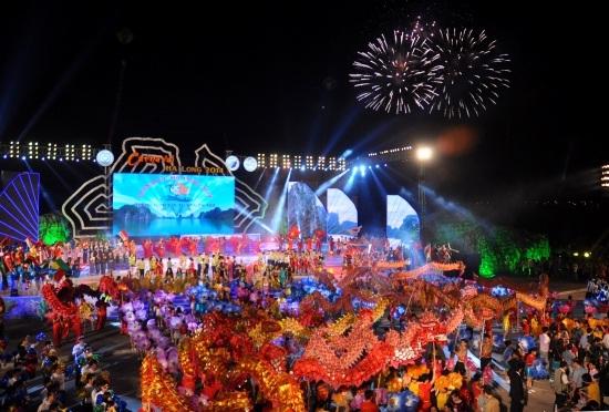 Firework show at Carnival Festival