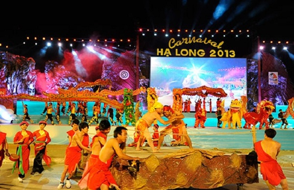Stage of Halong Carnival Festival in 2013