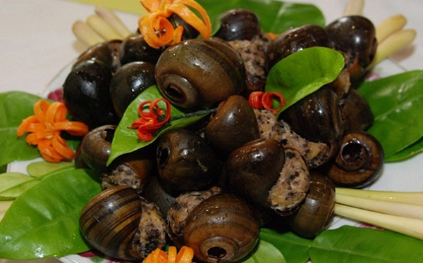 A special seafood dish in Halong