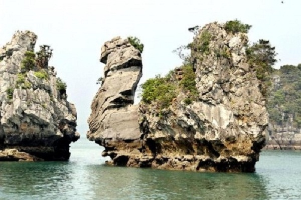 A closer look at Thien Nga islet