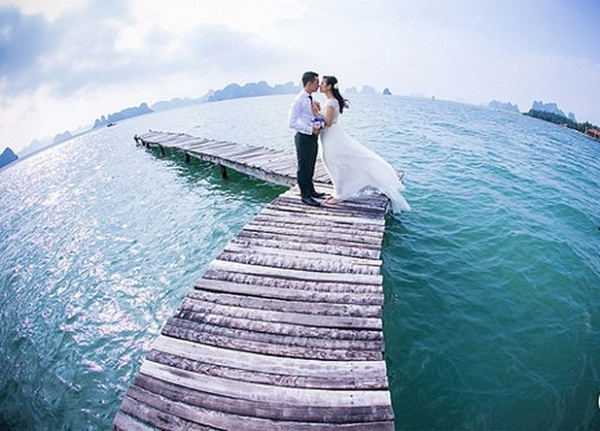 "Wedding photos in ""heaven"" island"