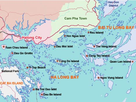 A quick look on Halong Bay map