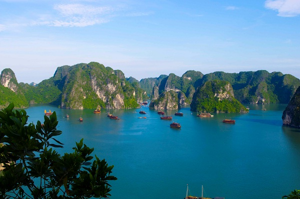 Islands on Halong Bay are to be explored on a cruise of luxury