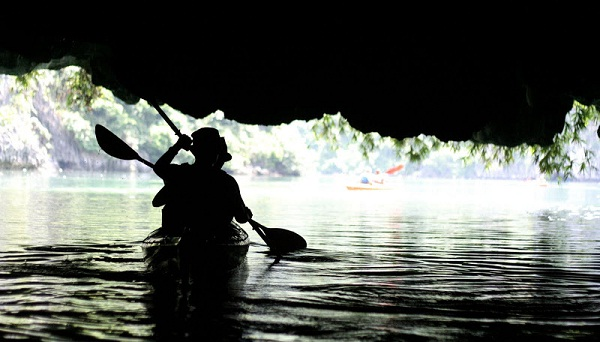 Kayaking hepls to reach some amazing caves that a cruise boat can't