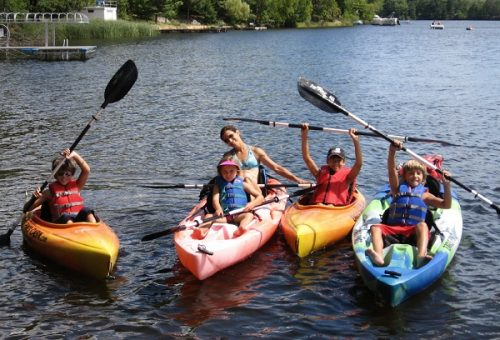 Kyaking is a very safe activity that you can share with your family, including your children in one or two-seated kyaks