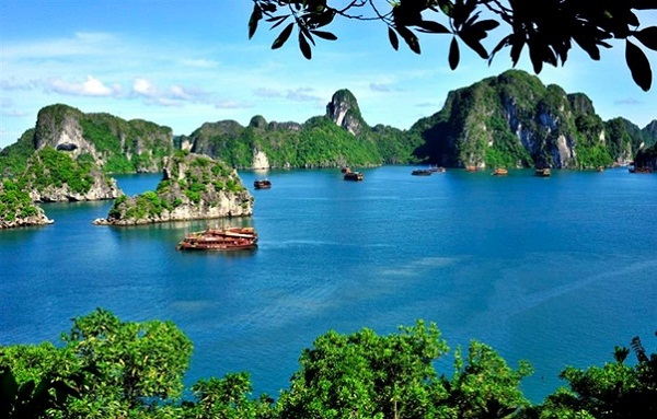 Halong Bay, one of seven Natural Wonders of the World