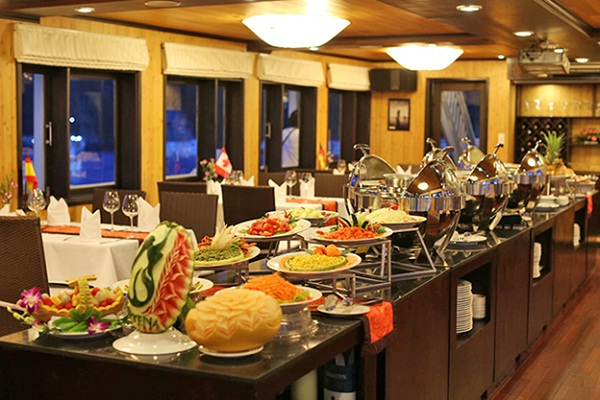 Dinner on the boat