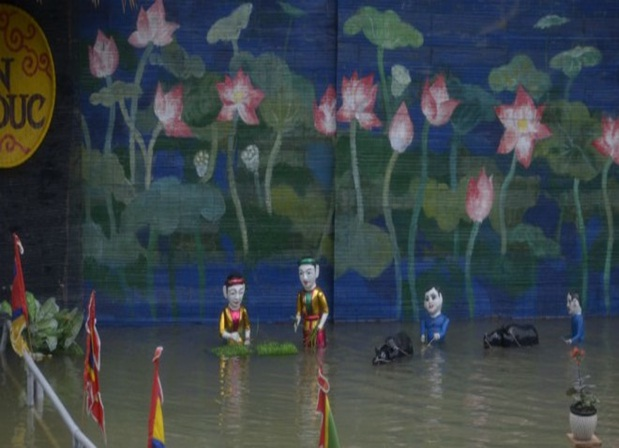 Water puppet in Yen Duc Village
