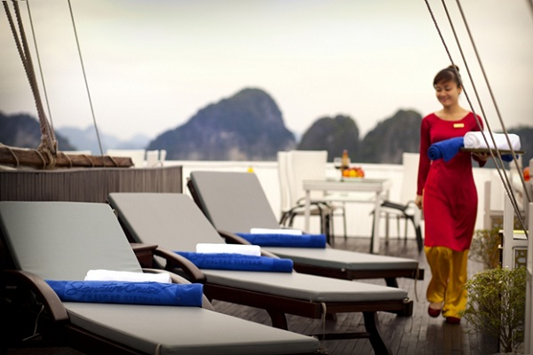 Signature Halong Cruise's sundeck