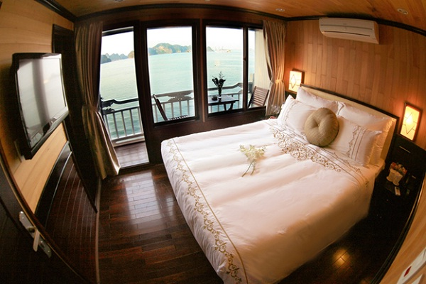 One of the cabins of Aphrodite Cruises