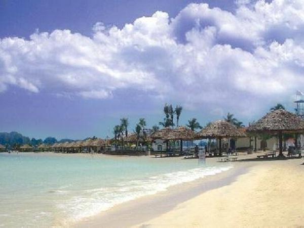 The beautiful artificial beach