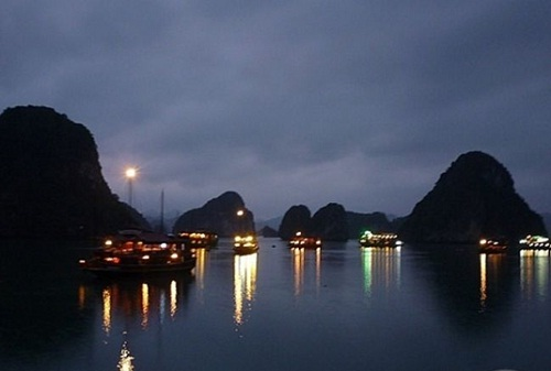 Halong Bay by night