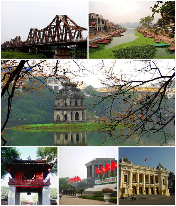 Some of many famous places in Hanoi