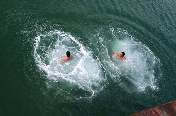 Swimming on Halong Bay