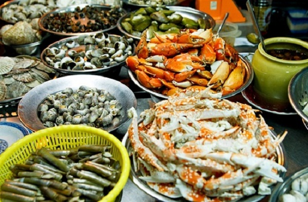 Seafood in Halong Market