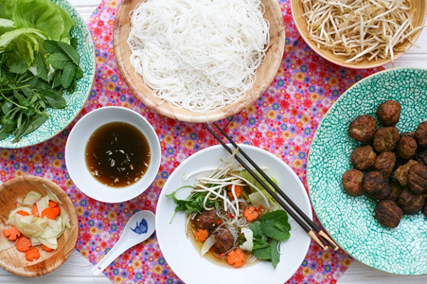 Bun cha is very special and unique that could excite your taste