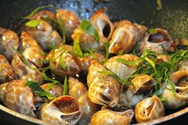Fried Sea Snails With Chili Sauce