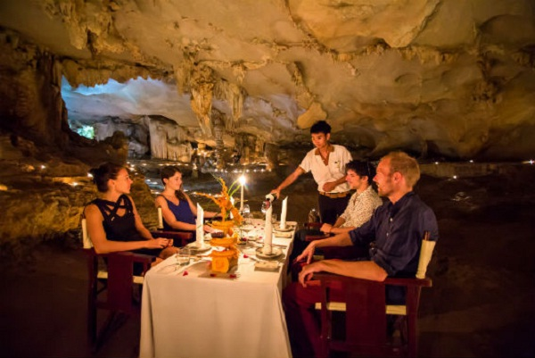 Dining in the cave