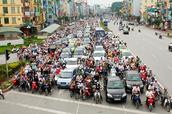 Motorbike is the most popular means of transportation in Vietnam
