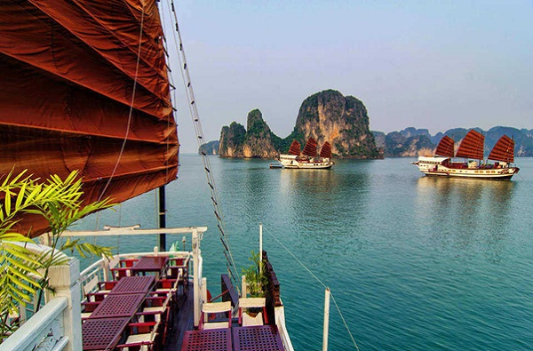Take a cruise in to admire these stunning views of Halong Bay