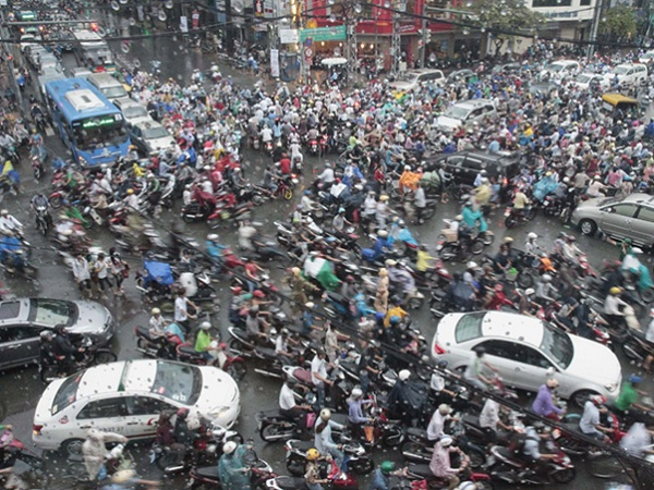 Almost every adult owns a motorbike in Vietnam