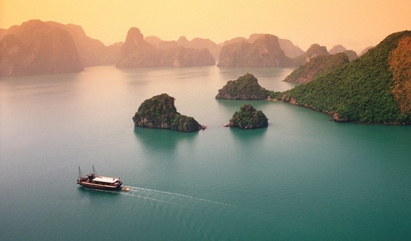 Sunset on Halong Bay - Source