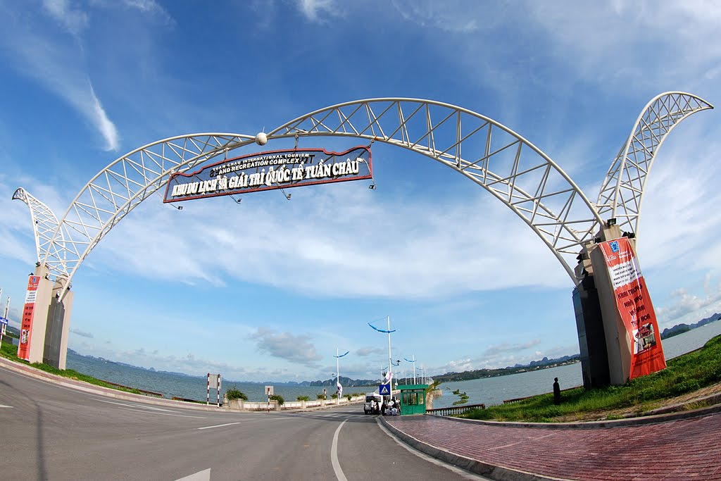 Entrance to Tuan Chau international amusement park and recreation