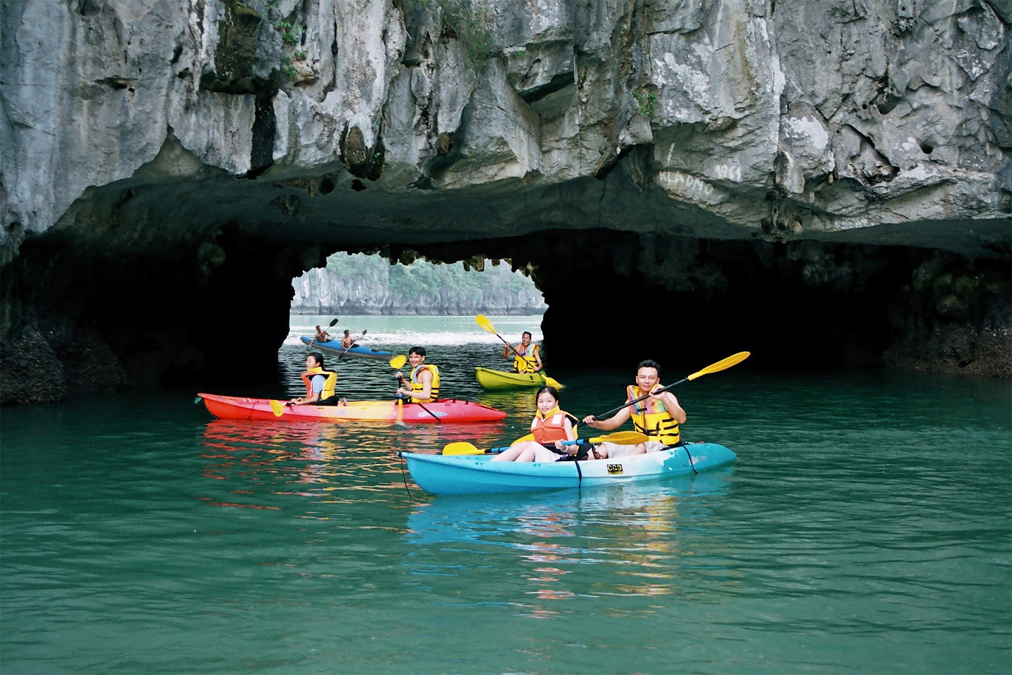 Halong bay is perfect for kayaking