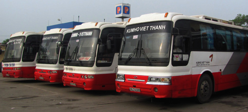 Kumho Viet Thanh bus from Hanoi to Halong