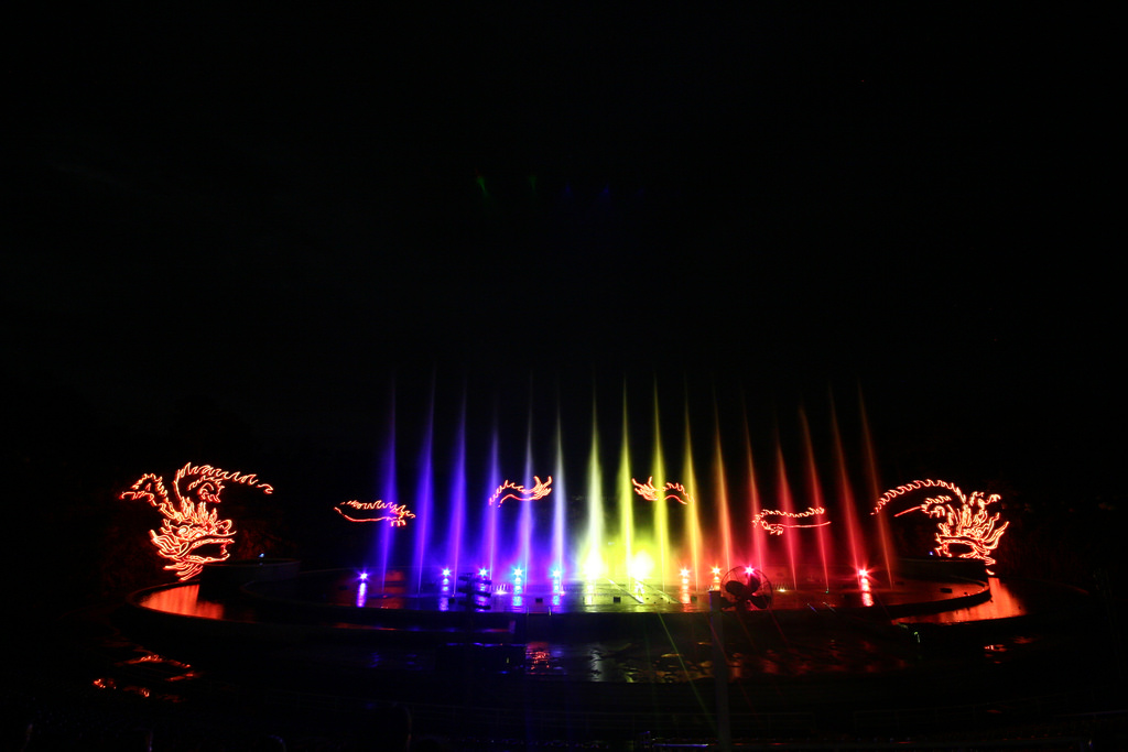Music water show in Tuan Chau