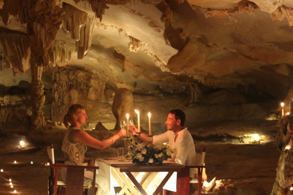 Dining in a cave – a lifetime experience