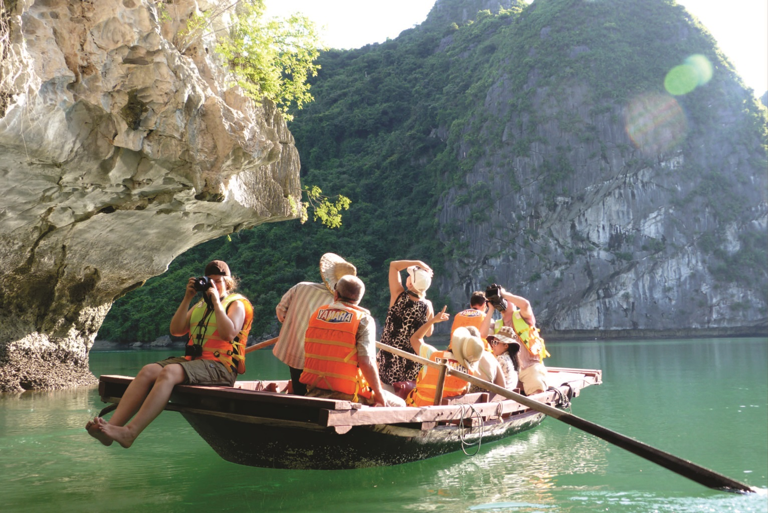 Enjoy kayaking on Halong Bay