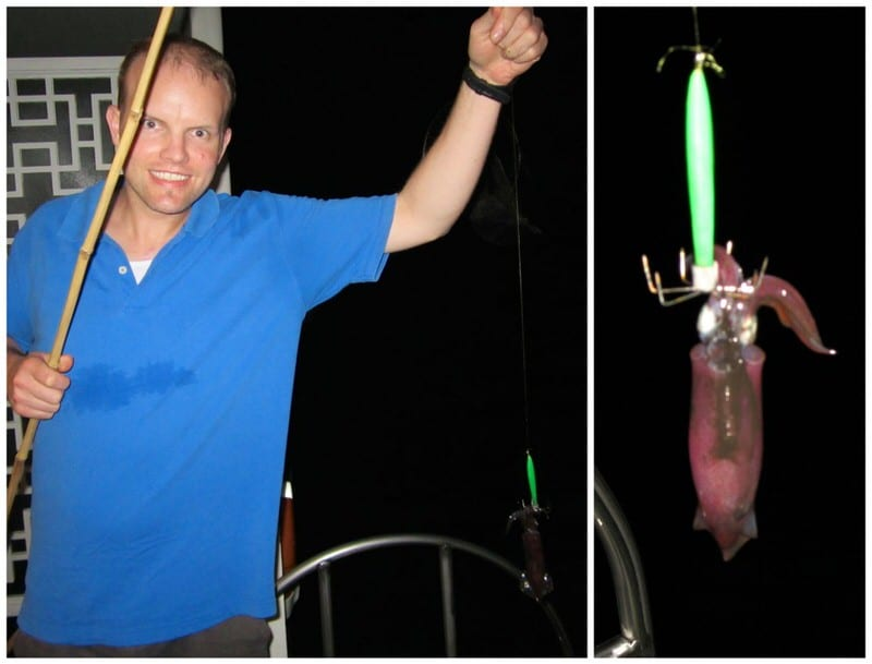 Night squid fishing