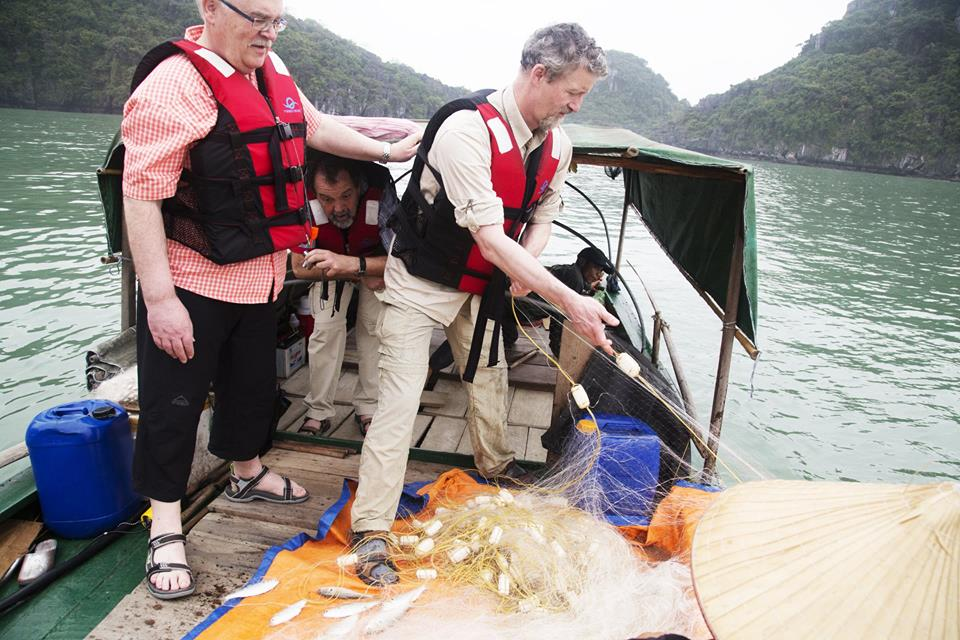 Squid fishing in Halong