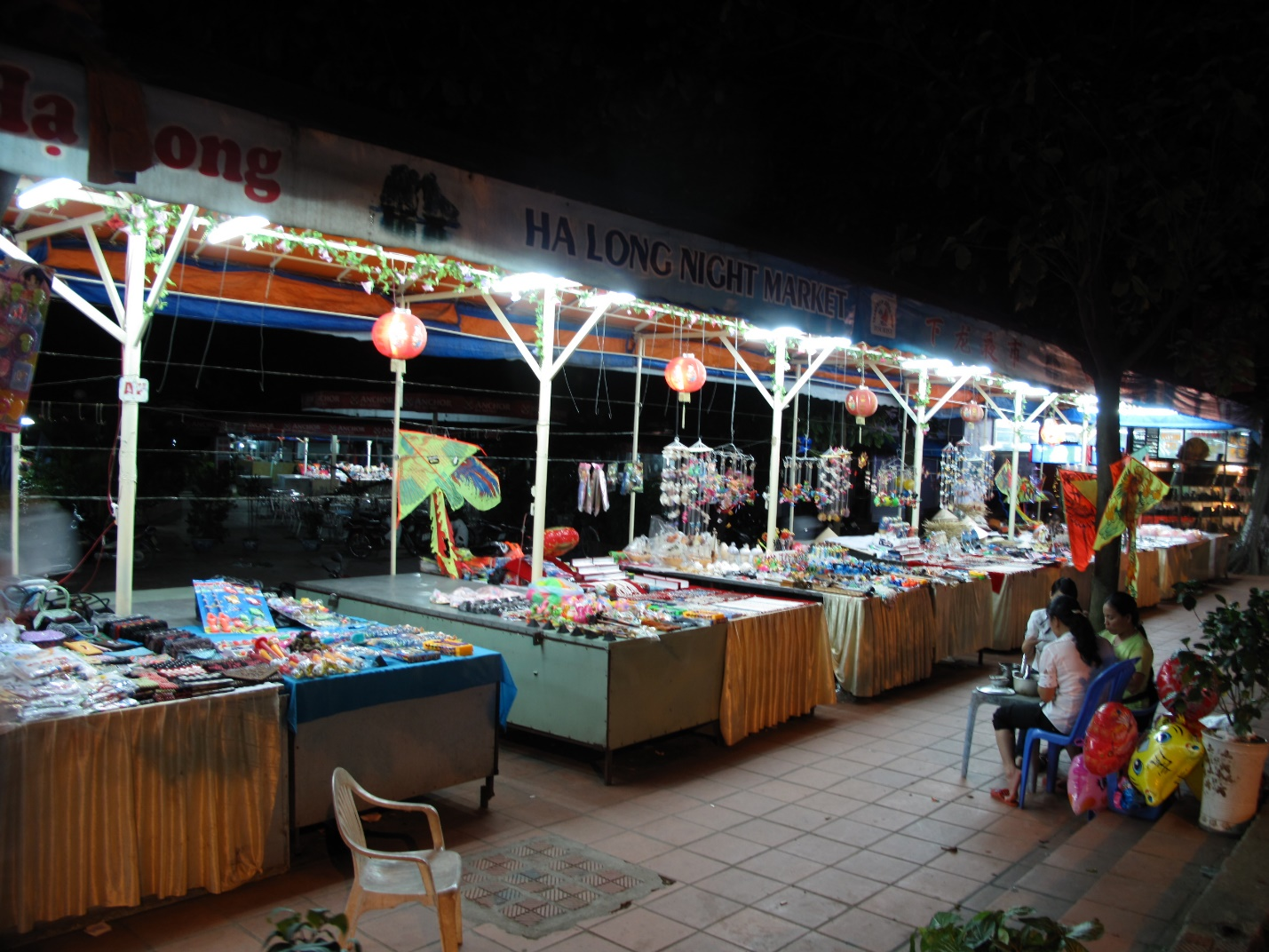 A corner of Halong night market