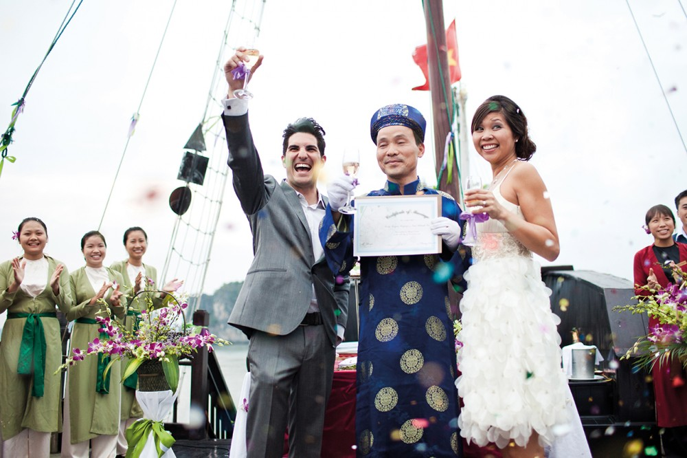 Experience Halong Bay wedding cruise