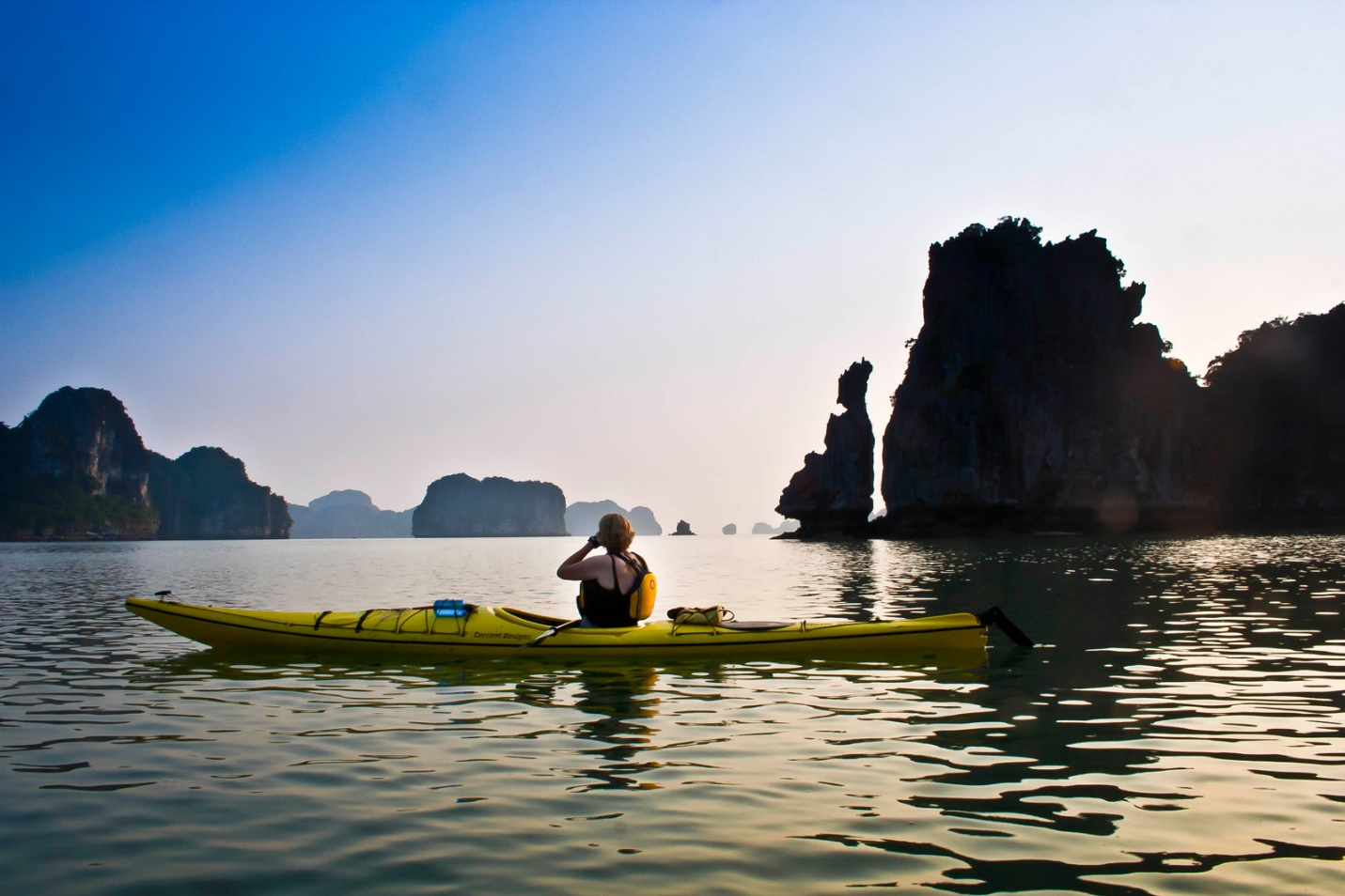 See Halong Bay in a different view on a kayak