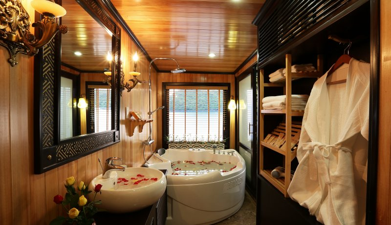 Each cabin is a small spa