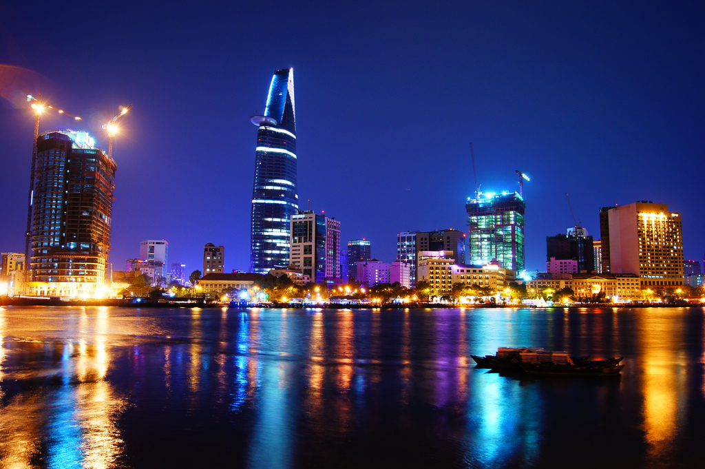 Saigon river by night