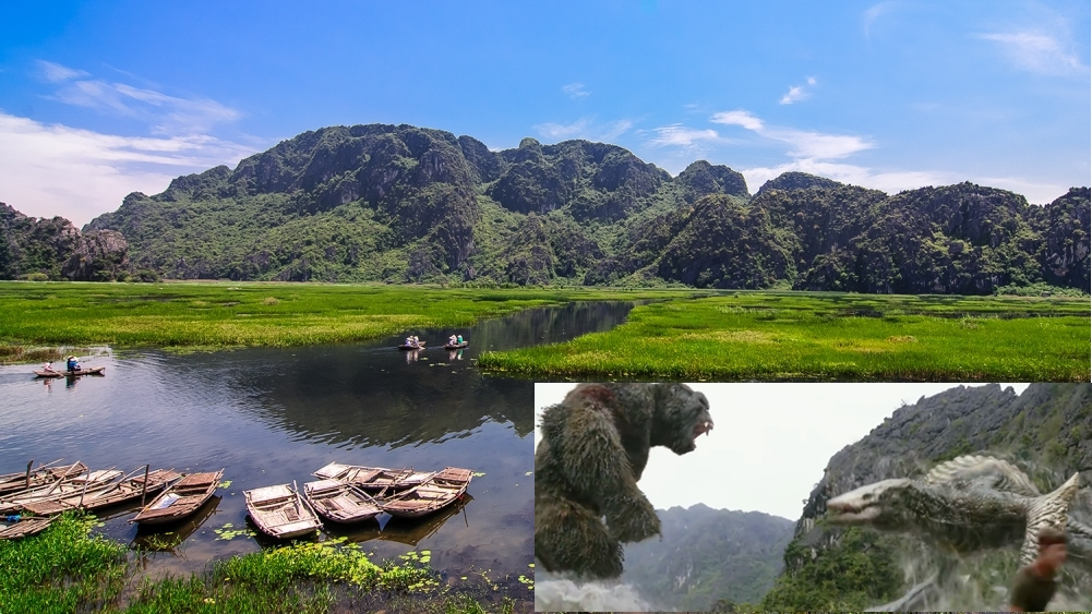 Vietnam beauty scenes appeared in the Kong Skull Island film