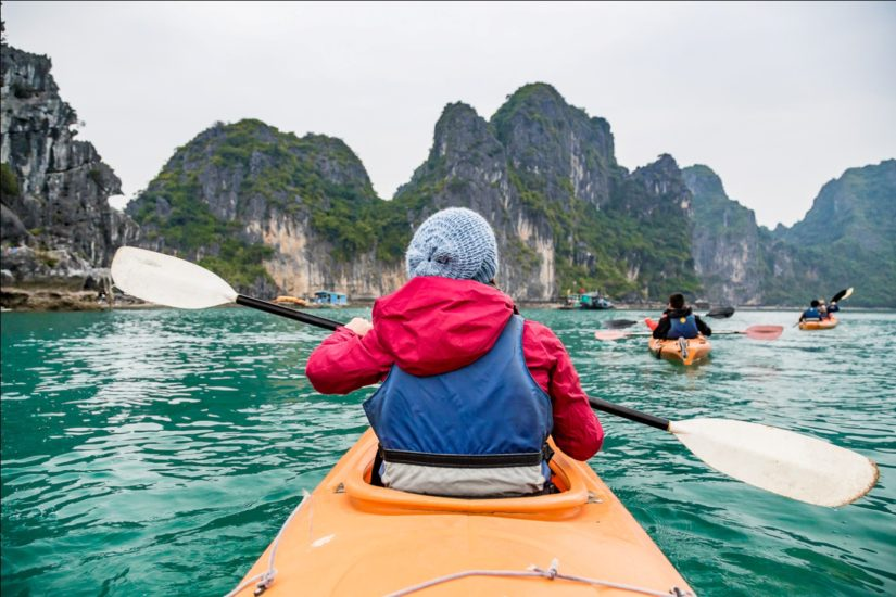 Kayaking in Halong-a lifetime experience