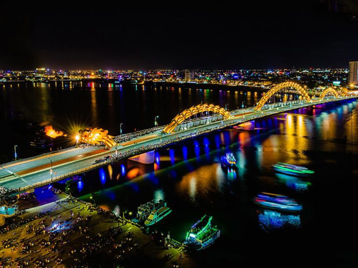 Unveiling fire-breathing Dragon Bridge in Da nang