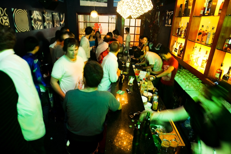 Funky Buddha Club, a popular gathering place to help you explore Hanoi in the night